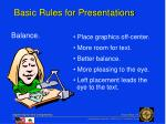 basic rules for presentations7