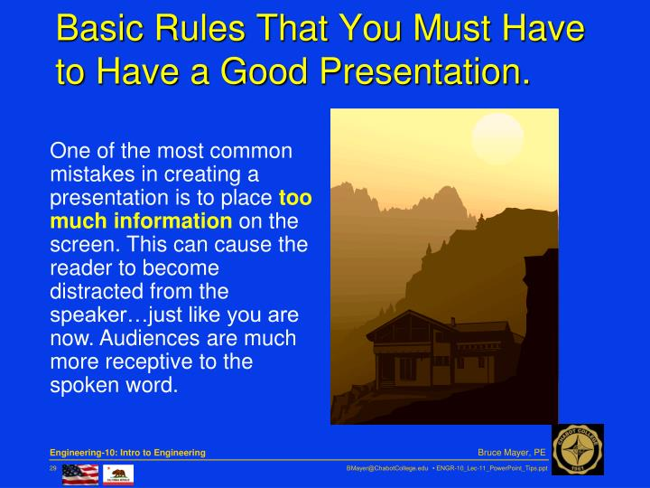 Basic Rules That You Must Have to Have a Good Presentation.
