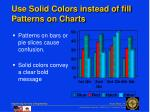 use solid colors instead of fill patterns on charts