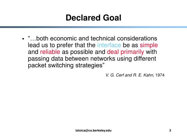 Declared Goal