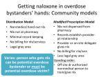 getting naloxone in overdose bystanders hands community models