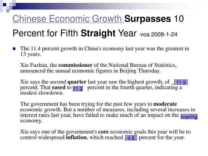 Chinese Economic Growth