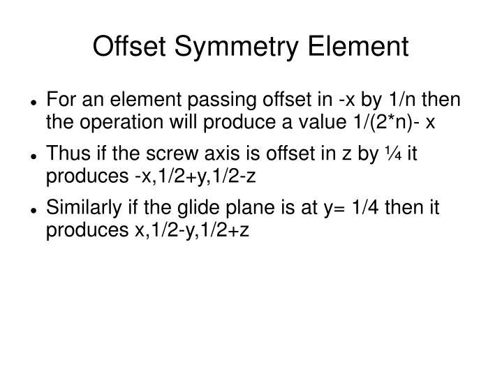 Offset Symmetry Element