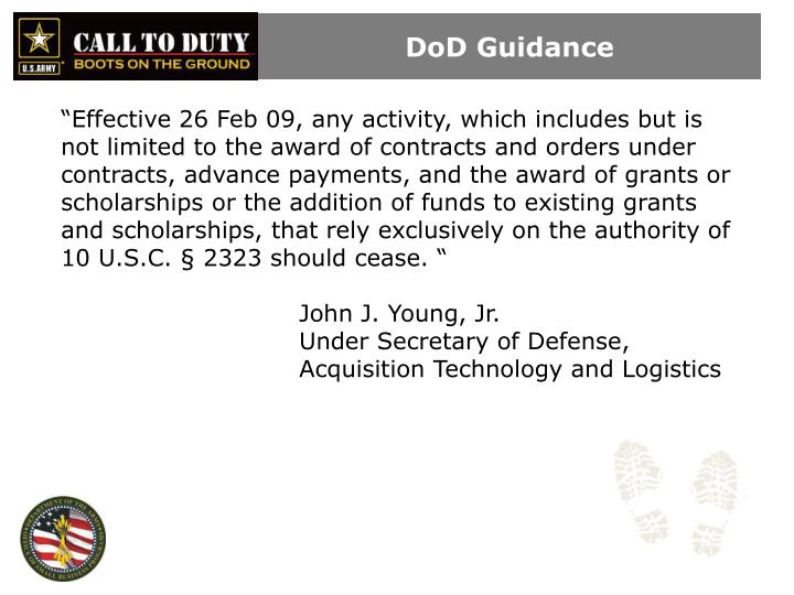 DoD Guidance