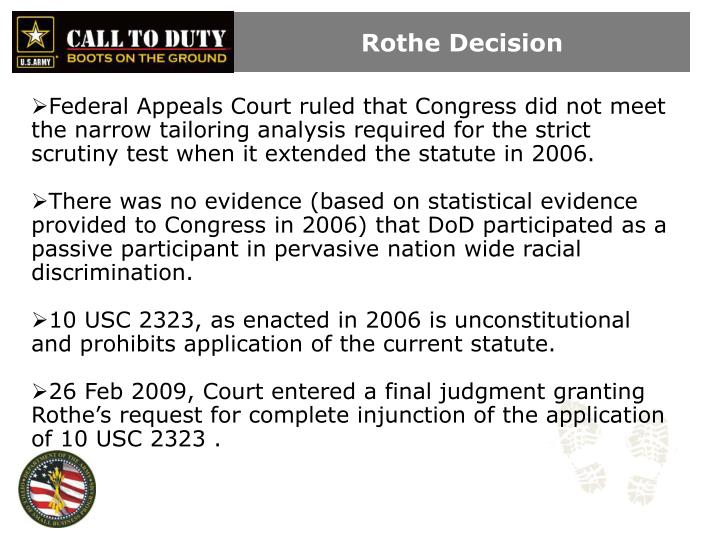 Rothe Decision