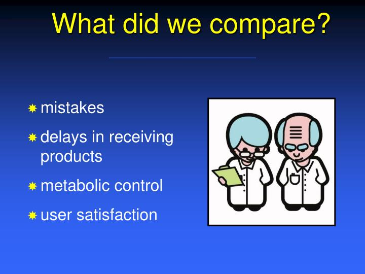 What did we compare?