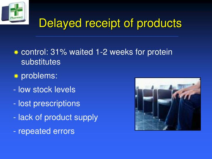 Delayed receipt of products
