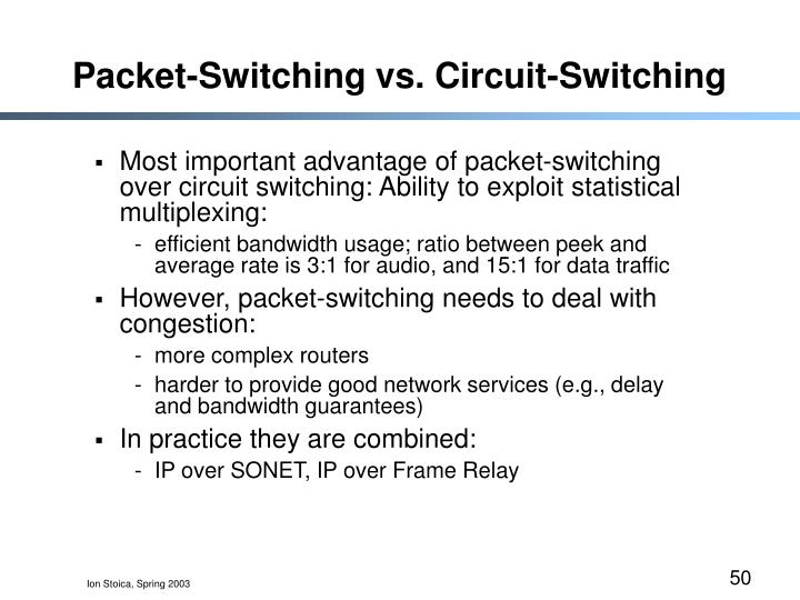 Packet-Switching vs. Circuit-Switching