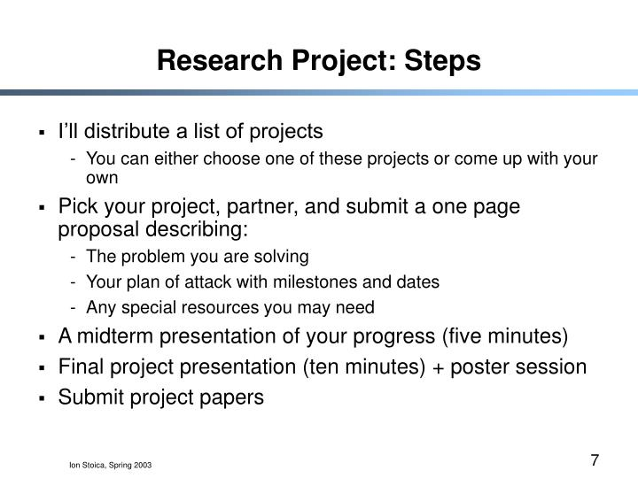 Research Project: Steps