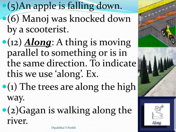 (5)An apple is falling down.