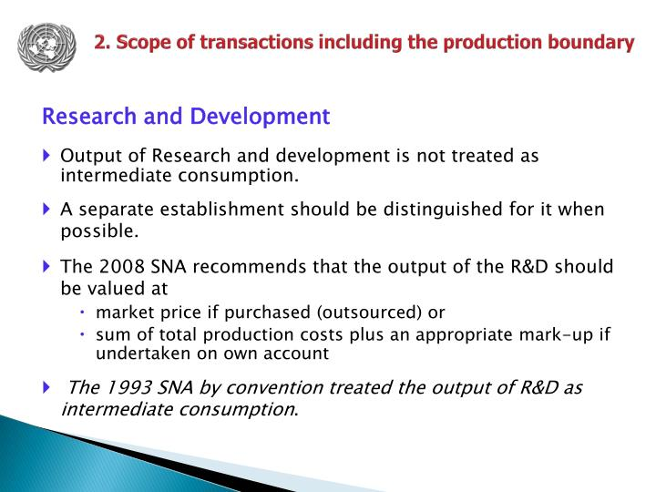 2. Scope of transactions including the production boundary