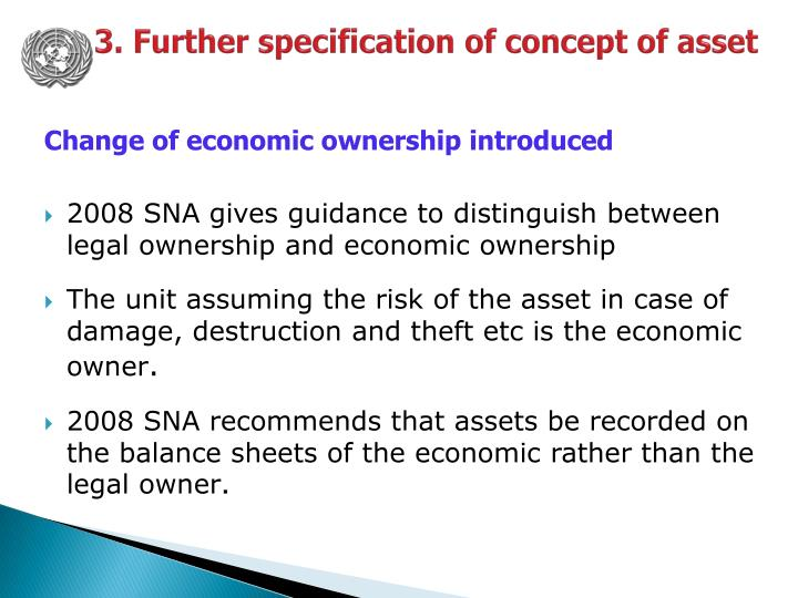3. Further specification of concept of asset