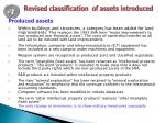 revised classification of assets introduced