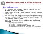 revised classification of assets introduced1