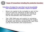 scope of transactions including the production boundary2