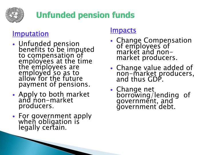 Unfunded pension funds