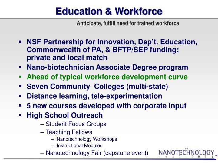 Education & Workforce