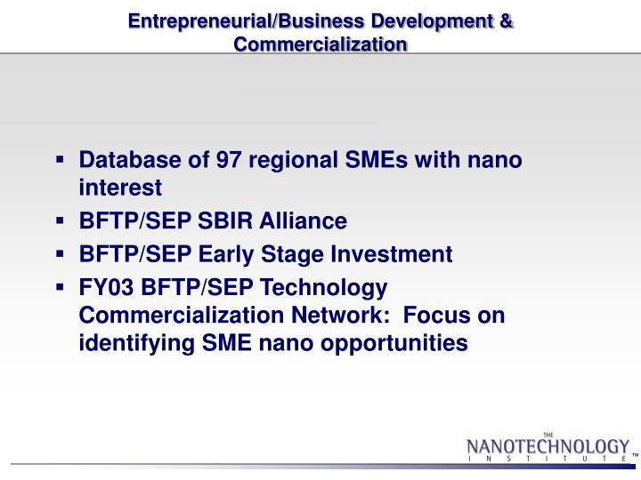 Entrepreneurial/Business Development & Commercialization