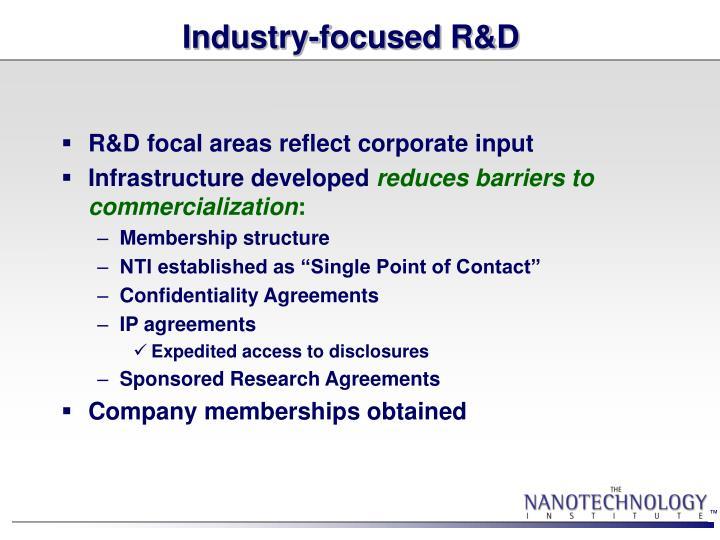 Industry-focused R&D