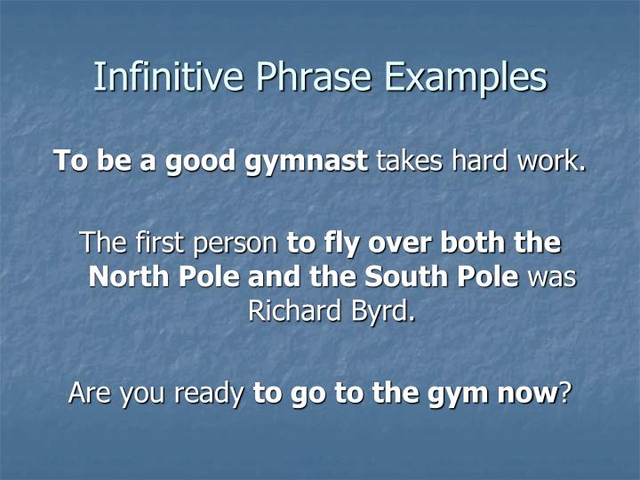 Infinitive Phrase Examples