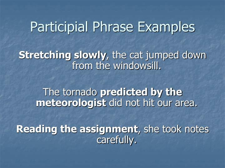 Participial Phrase Examples