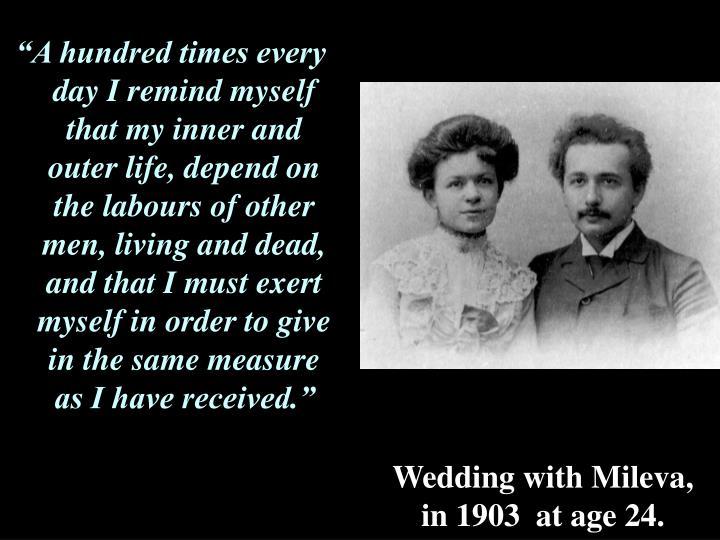 Wedding with Mileva,
