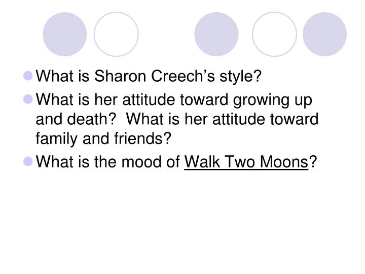 What is Sharon Creech's style?