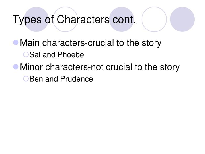 Types of Characters cont.