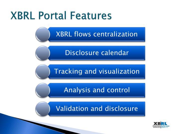 XBRL Portal Features