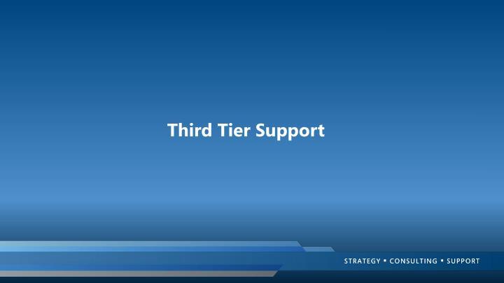 Third Tier Support