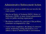administrative enforcement action