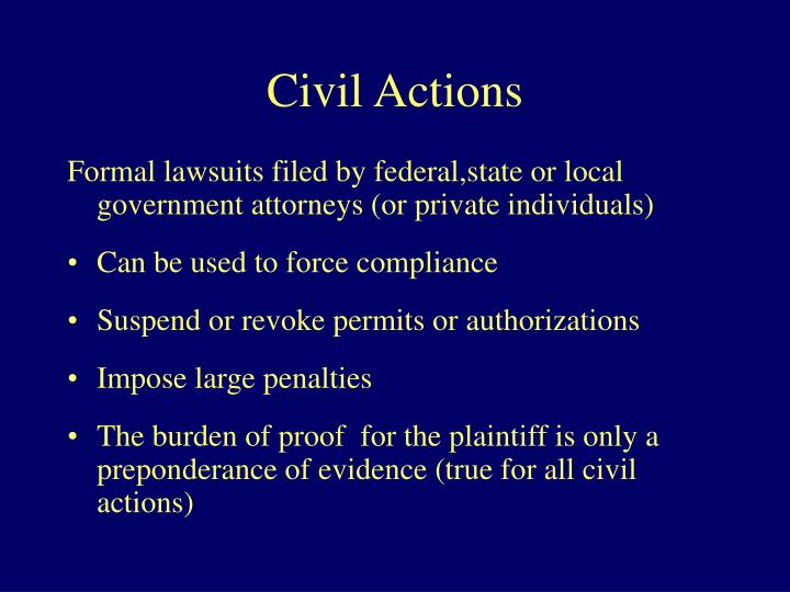 Civil Actions