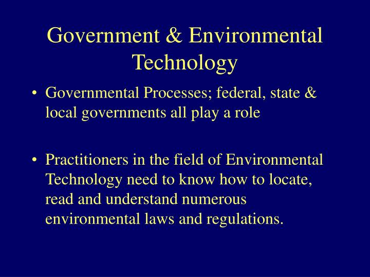 Government environmental technology
