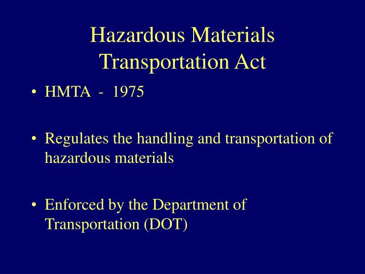 Hazardous Materials Transportation Act