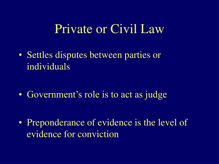Private or Civil Law