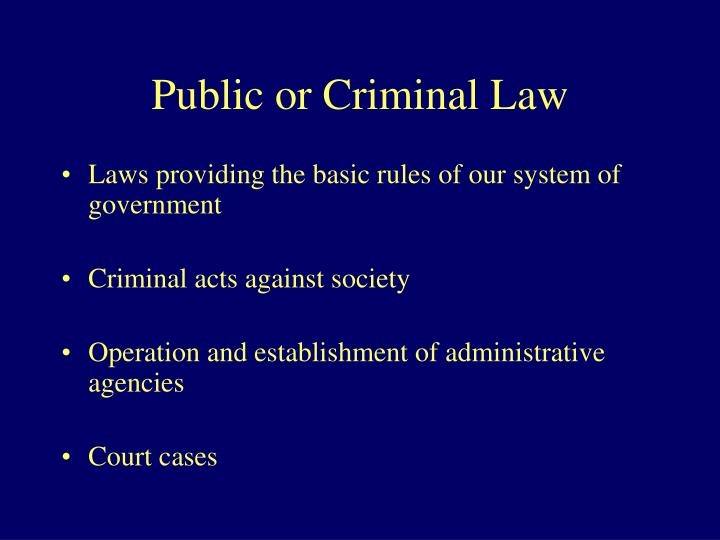 Public or Criminal Law