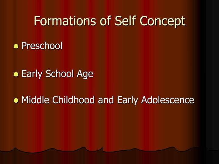 Formations of Self Concept