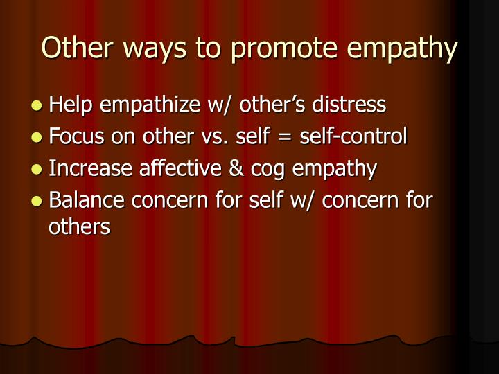 Other ways to promote empathy