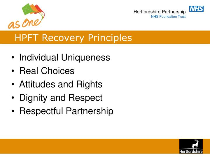 HPFT Recovery Principles