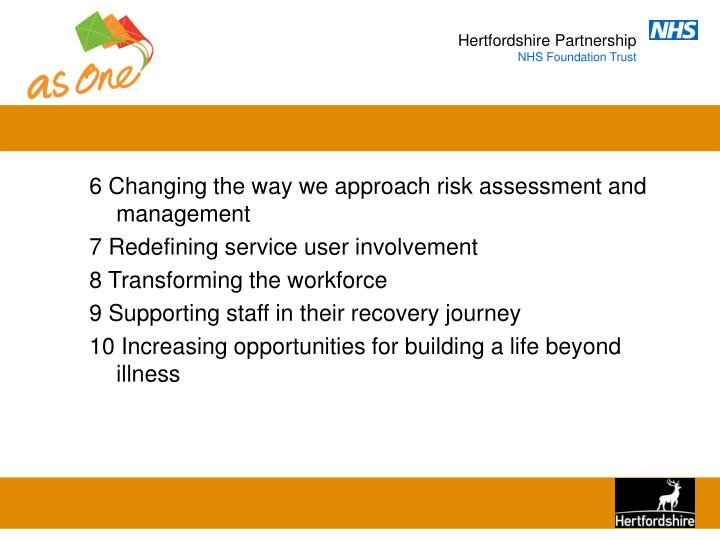 6 Changing the way we approach risk assessment and management