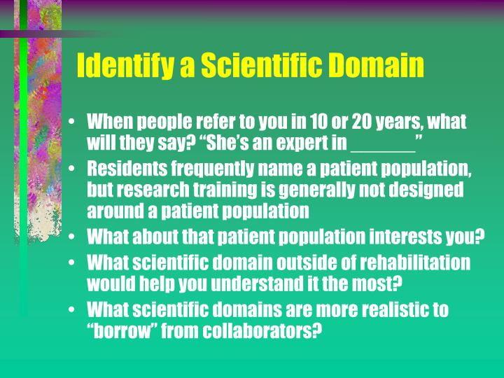Identify a Scientific Domain
