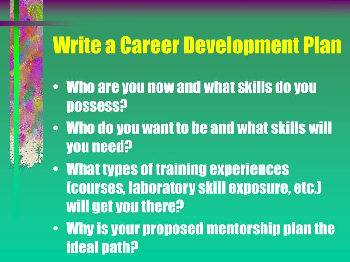 Write a Career Development Plan