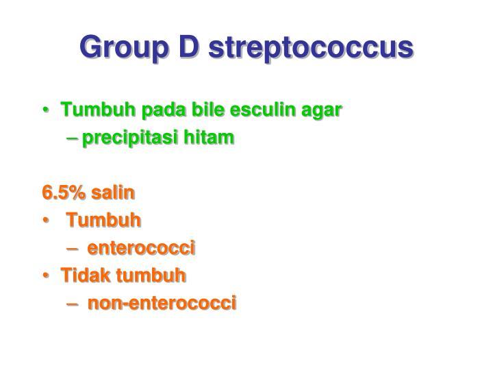 Group D streptococcus