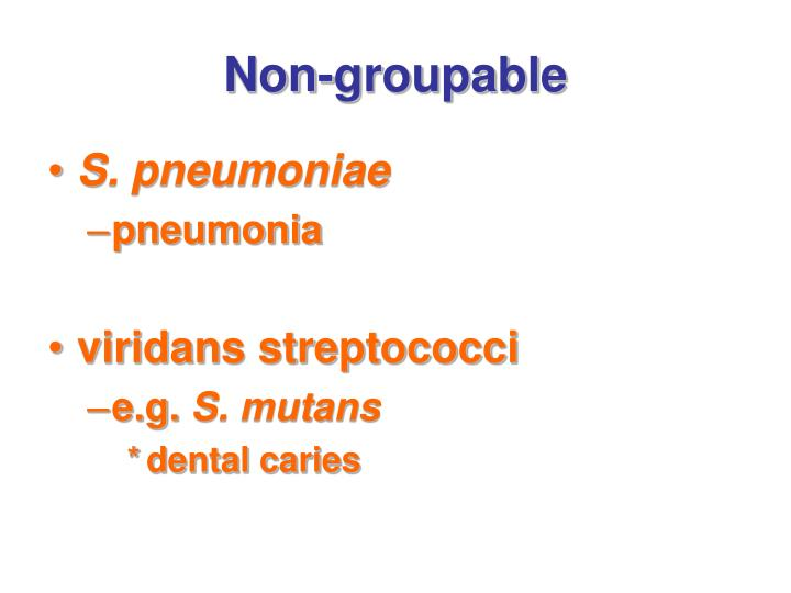 Non-groupable