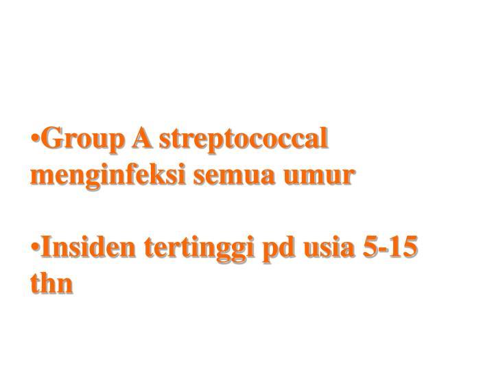 Group A streptococcal menginfeksi semua umur