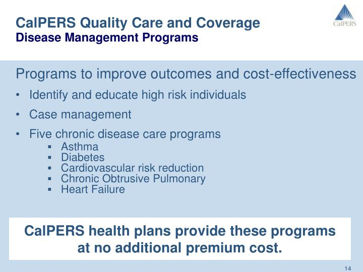 The application of case management programs in improving the quality of care