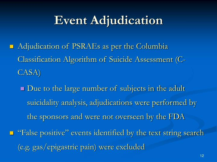 Event Adjudication