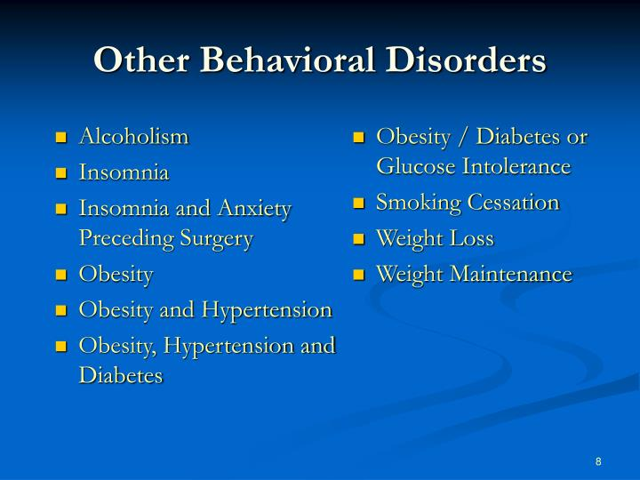 Other Behavioral Disorders