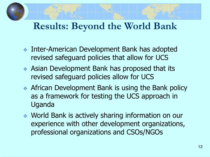 Results: Beyond the World Bank