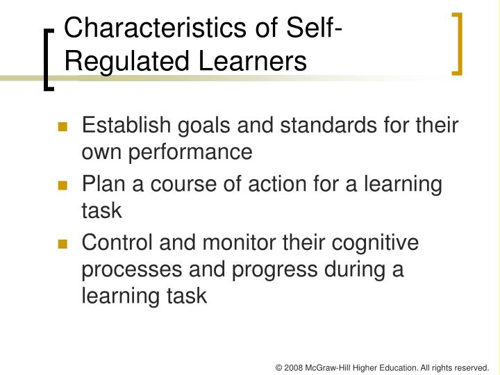 Characteristics of Self-Regulated Learners